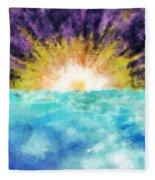 Sunrise At The Edge Of Earth Fleece Blanket