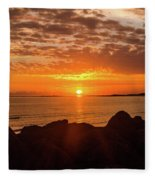 Sunrise At The Jetty Fleece Blanket