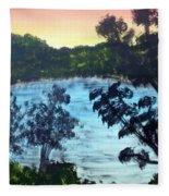 Sunrise At The Lake Fleece Blanket