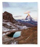 Sunrise At The Matterhorn Mountain Area Fleece Blanket
