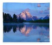 Sunrise At The Oxbow Fleece Blanket