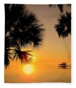 Sunrise At The Space Coast Fl Fleece Blanket