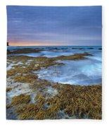 Sunrise Beneath The Storm Fleece Blanket