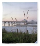 Sunrise Beyond Pier Fleece Blanket