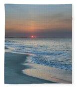 Sunrise - Cape May Beach Fleece Blanket