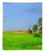 Sunrise - Country Australia Painting Fleece Blanket