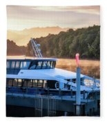 Sunrise Cruise To Doubtful Sound Fleece Blanket