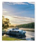 Sunrise Cruise To Doubtful Sound, New Zealand Fleece Blanket
