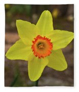 Sunrise Daffodil Fleece Blanket