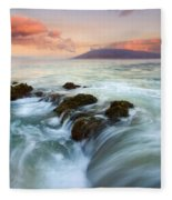 Sunrise Drain Fleece Blanket