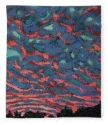 Sunrise Embers Fleece Blanket