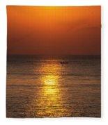 Sunrise Fishing Fleece Blanket