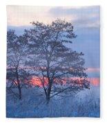 Sunrise Fog Fleece Blanket