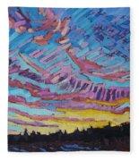 Sunrise Freezing Rain Deformation Zone Fleece Blanket