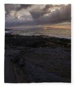 Sunrise From Beavertail In Jamestown Rhode Island Fleece Blanket