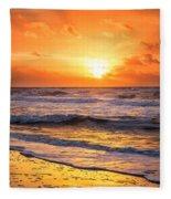 Sunrise Gulf Shores Alabama Beach Fleece Blanket