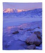 Sunrise Ice Reflection Fleece Blanket