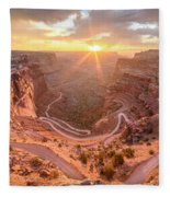 Sunrise In Canyonlands Fleece Blanket
