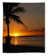 Sunrise In Key West Fl Fleece Blanket