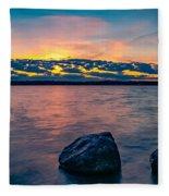 Sunrise In Motion Fleece Blanket