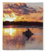 Sunrise In Murrells Inlet, Sc Fleece Blanket