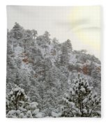 Sunrise In Snowstorm In The Pike National Forest Fleece Blanket