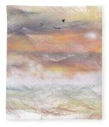 Sunrise In Steamy Fog Fleece Blanket