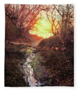 Sunrise In The Forest Fleece Blanket