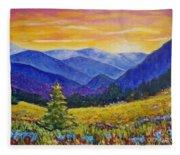 Sunrise In The Mountains Fleece Blanket