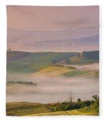 Sunrise In The Tuscany Fleece Blanket