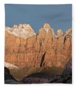 Sunrise In Zion National Park  Fleece Blanket