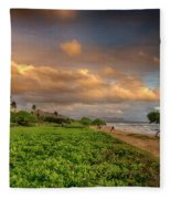 Sunrise Nukolii Beach Kauai Hawaii 7r2_dsc4068_01082018 Fleece Blanket