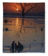 Sunrise On Boneyard Beach Fleece Blanket