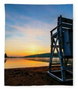 Sunrise On Eighth Lake 1 Fleece Blanket