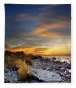 Sunrise On Mackinac Island Fleece Blanket