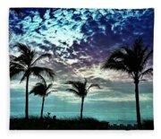 Sunrise On Miami Beach Fleece Blanket