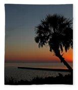 Sunrise On Pleasure Island Fleece Blanket
