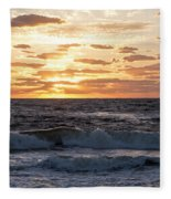 Sunrise On Pompano Beach Pompano Florida Fleece Blanket