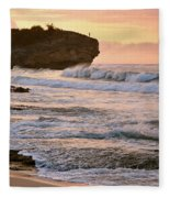 Sunrise On Shipwreck Beach Fleece Blanket