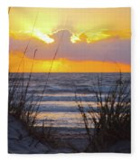 Sunrise On The Atlantic Fleece Blanket