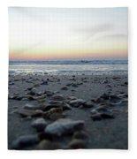 Sunrise On The Beach Fleece Blanket