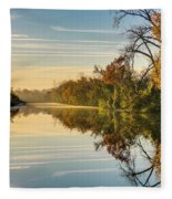 Sunrise On The Canal Fleece Blanket