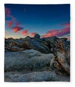 Sunrise On The Jeffrey Pine Fleece Blanket