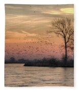 Sunrise On The Platte Fleece Blanket
