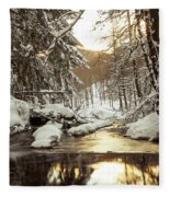 Sunrise On The River Fleece Blanket