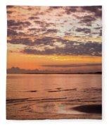Sunrise On The Shore  Fleece Blanket