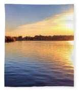 Sunrise On The Tidal Basin Fleece Blanket