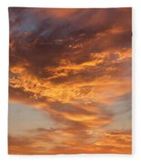 Sunrise Orange Sky, Willamette National Forest, Oregon Fleece Blanket
