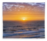 Sunrise Over Atlantic Ocean Fleece Blanket