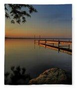 Sunrise Over Cayuga Lake Fleece Blanket